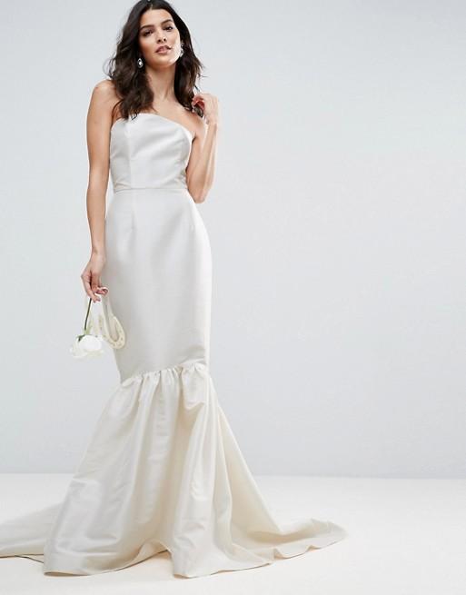 Asos Wedding Dress.Asos Bridal Trumpet Hem Maxi Dress