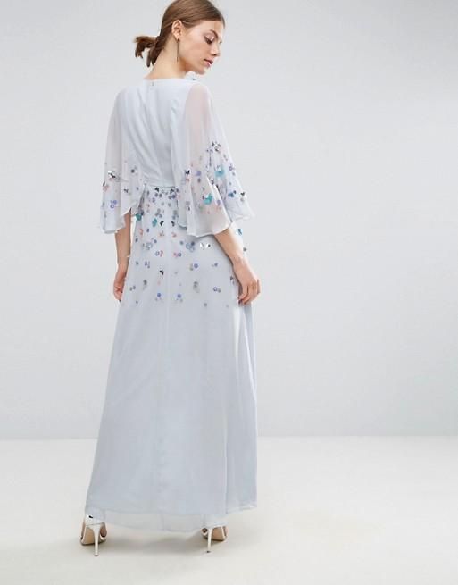 47e74e0d909 ASOS Embellished Kimono Maxi Dress - Liyanah Liyanah.co