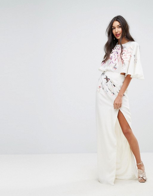 65bc35315aa58 ASOS TALL Embroidered Side Cut Out Maxi Dress - Liyanah Liyanah.co