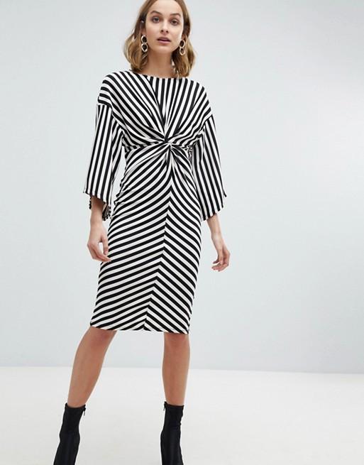 River Island Stripe Midi Dress