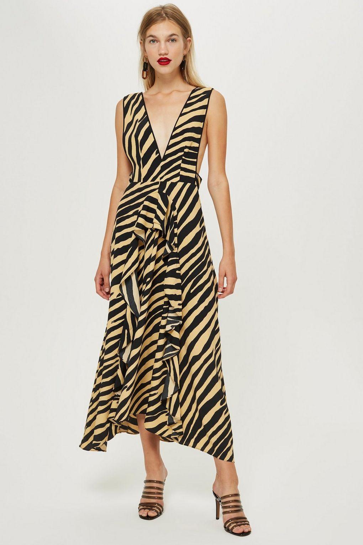 ef4e192cff97 Topshop Zebra Print Pinafore Dress - Liyanah Liyanah.co