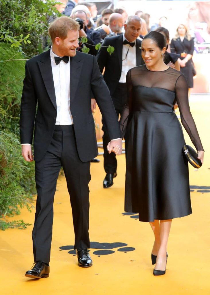 Prince Harry and Meghan Markle at the London Lion King European Premiere