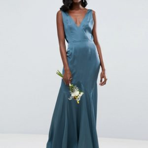 ASOS Wedding Premium Drape Cowl Back Cami Maxi Dress