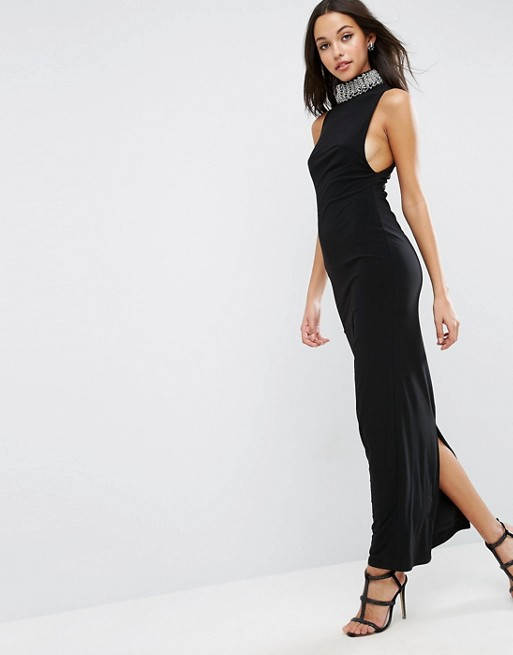 ASOS Embellished Collar Neck Maxi Dress - Liyanah