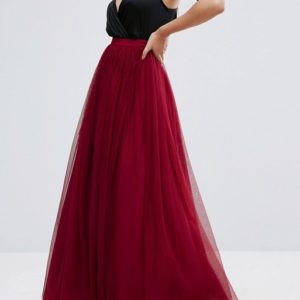 Liyanah - ASOS Red Tulle Maxi Prom Skirt