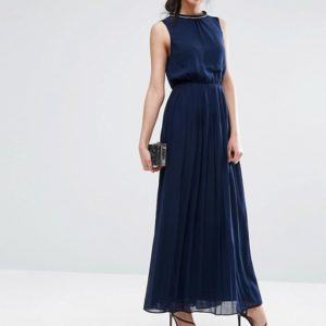 Oasis High Neck Embellished Maxi Dress - Liyanah