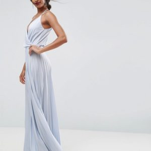 ASOS Blouson Pleated Maxi Dress - Liyanah