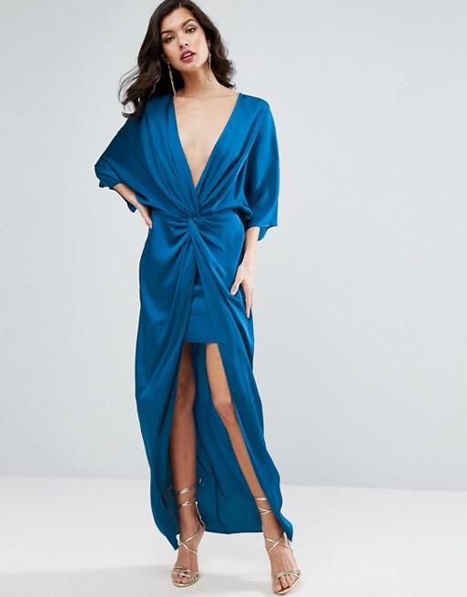 ASOS Kimono Twist Front Maxi Dress - Liyanah