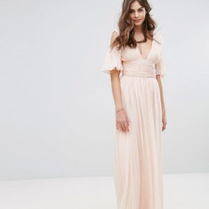 French Connection Constance Drape Cold Shoulder Maxi Dress - Liyanah