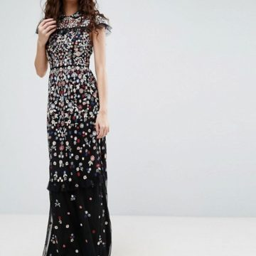 Needle & Thread Posy Embroidered Gown - Liyanah