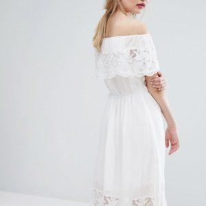 Vila Off The Shoulder Lace Dress - Liyanah