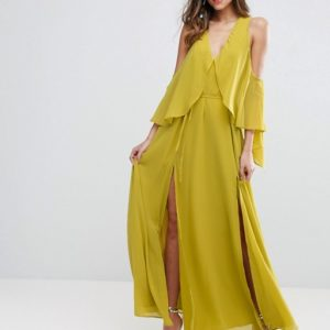 ASOS Drape Cold Shoulder Maxi Dress - Liyanah