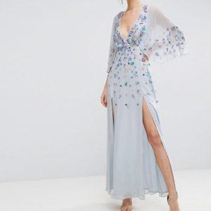 ASOS Embellished Kimono Maxi Dress - Liyanah