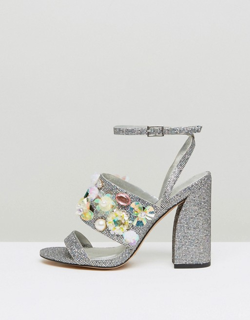 ASOS HOLLA! Embellished High Heels - Liyanah