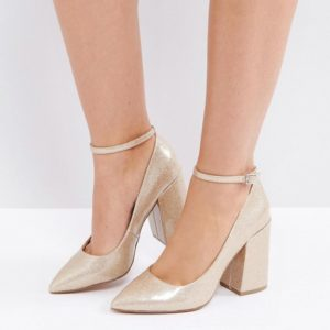 ASOS PIPELINE Pointed Block High Heels - Liyanah
