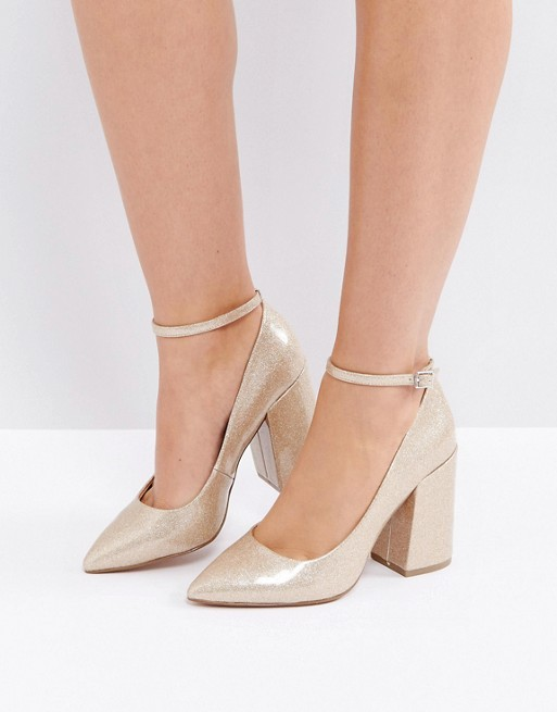 ASOS PIPELINE Pointed Block High Heels - Liyanah