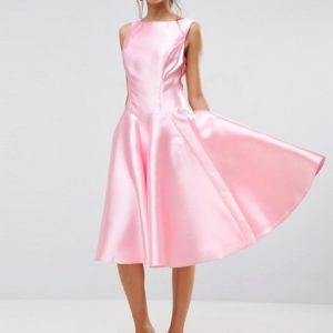 ASOS SALON Panelled Seamed Midi Prom Dress with Godets - Liyanah