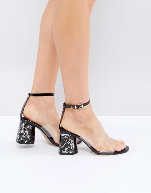 ASOS THUNDER Black Minimal Sandals - Liyanah