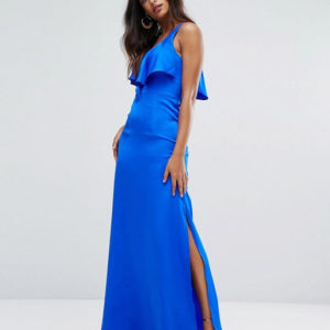 Bariano Cami Maxi Dress With Frill Front - Liyanah