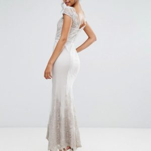 Chi Chi London Premium Lace Maxi Dress with Fishtail - Liyanah