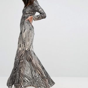 Club L Placement Sequin Maxi Dress - Liyanah