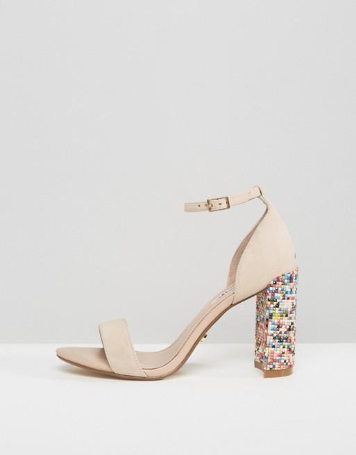 Dune Millions Multicolour Block Heeled Sandals - Liyanah