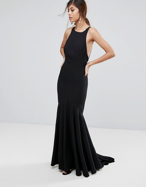 Jarlo Fishtail Maxi Dress With Open Bow Back - Liyanah
