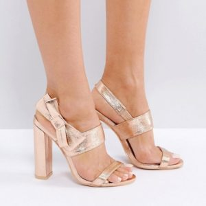 Missguided Bow Side Heeled Sandal - Liyanah