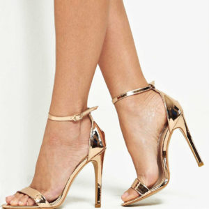 4th & Reckless Metallic Strappy Sandals - Liyanah