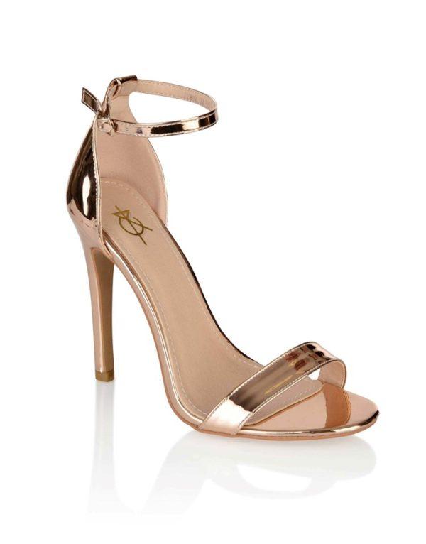 4th & Reckless Metallic Strappy Sandals - Liyanah