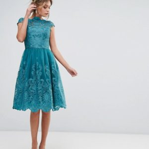 Chi Chi London Premium Lace High Low Dress - Liyanah