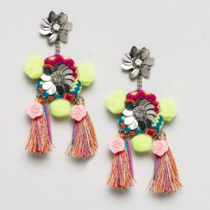 Glamorous Embellished Tassel Drop Earrings - Liyanah