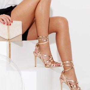Lipsy Metallic Tie Sandal - Liyanah