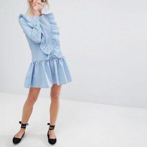 Pull&Bear Stripe Frill Front Dress - Liyanah