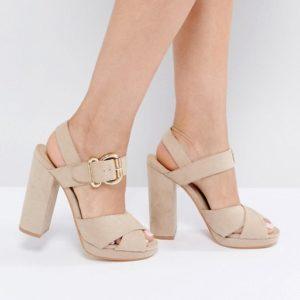 Truffle Collection Chunky Xover Platform Sandal - Liyanah