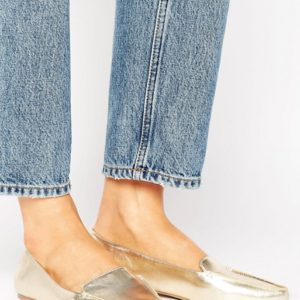 Call It Spring Cadenasen Metallic Point Flat Shoes - Liyanah