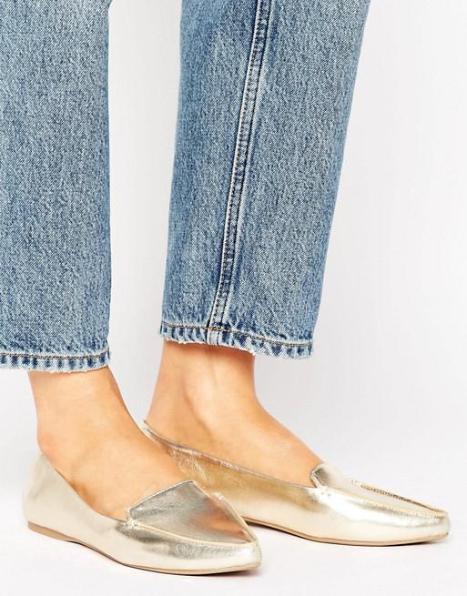 Call It Spring Cadenasen Metallic Point Flat Shoes - Liyanah