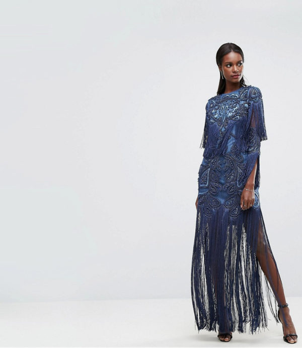 A Star Is Born Embellished Embroidered Maxi Dress - Liyanah