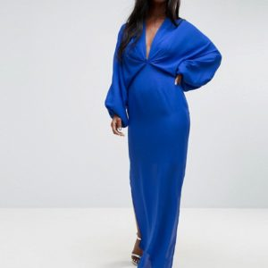 ASOS Balloon Sleeve Column Maxi Dress - Liyanah