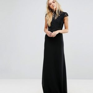 TFNC Tall High Neck Lace Maxi With Scallop Back - Liyanah