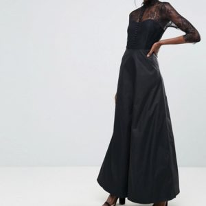 Y.A.S High Neck Maxi Dress With Lace Insert - Liyanah