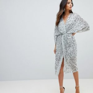 ASOS Embellished Sequin Kimono Midi Dress - Liyanah