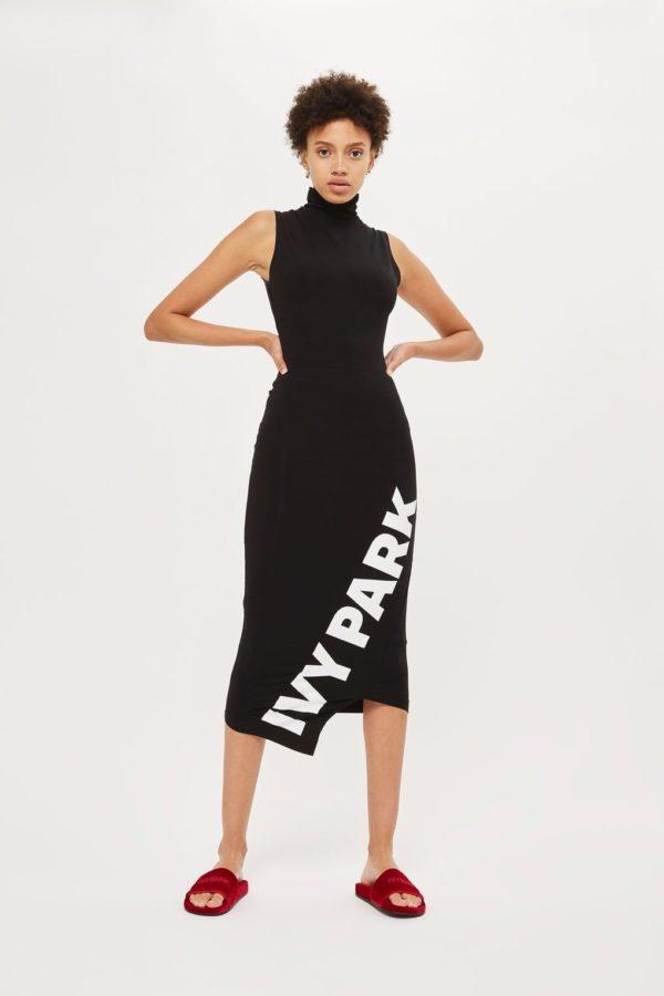 Asymetric Logo Midi Bodycon Dress by Ivy Park - Liyanah