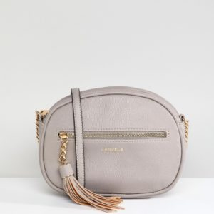 Carvela Sophia Kurt Geiger Grey Tassel Across Body Bag - Liyanah