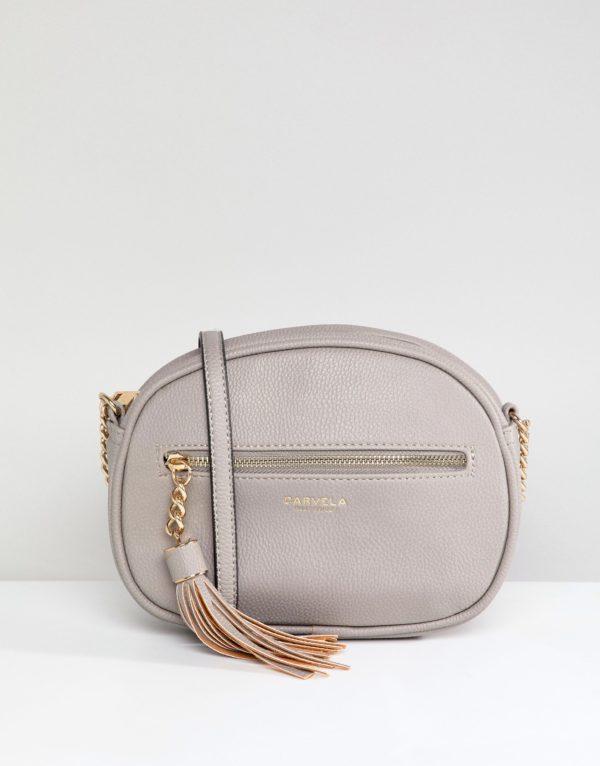 Carvela Sophia Kurt Geiger Grey Tassel Across Body Bag - Liyanah