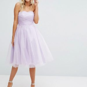 Hell Bunny Lavender Bandeau Tulle Dress - Liyanah