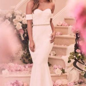 Lipsy Bridal Bandeau Diamanté Detail Maxi Dress - Liyanah