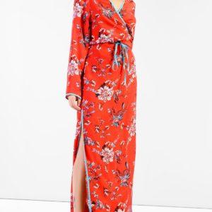 Topshop Piped Kimono Maxi Dress by Glamorous Tall - Liyanah