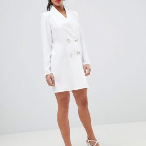 ASOS DESIGN Petite mini tux dress with pearl buttons - Liyanah