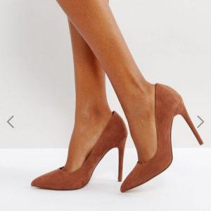 ASOS PARIS Mocha Nude Pointed High Heels - Liyanah